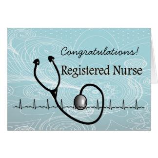 Neue RN-Krankenschwester-Glückwunsch-Karte Karte
