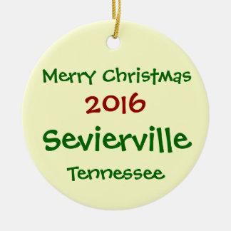 NEUE Sevierville Tennessee WEIHNACHTSverzierung Keramik Ornament