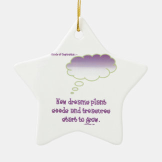 Neue Traum-Pflanzensamen Keramik Stern-Ornament