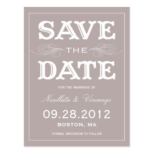 NEUE VINTAGE %PIPE% SAVE THE DATE MITTEILUNG POSTKARTE