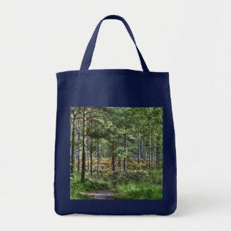 Neue Waldwaldbaum-Natur-Szene Tragetasche