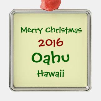 NEUE WEIHNACHTSfeiertags-VERZIERUNG 2016 OAHUS Silbernes Ornament