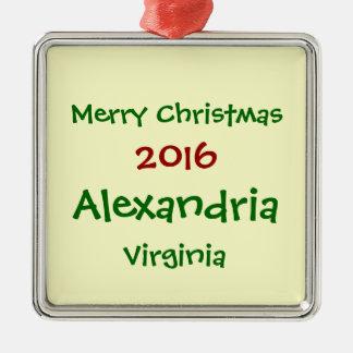 NEUE WEIHNACHTSverzierung 2016 ALEXANDRIAS Silbernes Ornament