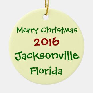 NEUE WEIHNACHTSverzierung 2016 JACKSONVILLES Keramik Ornament