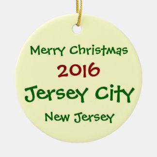 NEUE WEIHNACHTSverzierung 2016 JERSEY CITY Keramik Ornament