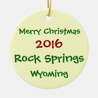 NEUE WEIHNACHTSverzierung 2016 ROCK SPRINGS Keramik Ornament