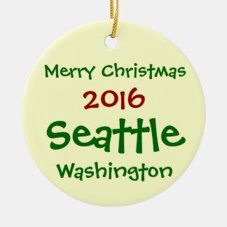 NEUE WEIHNACHTSverzierung 2016 SEATTLES WASHINGTON Keramik Ornament