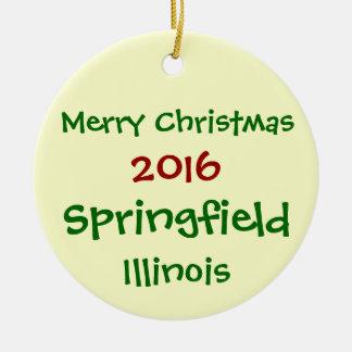NEUE WEIHNACHTSverzierung 2016 SPRINGFIELDS Keramik Ornament