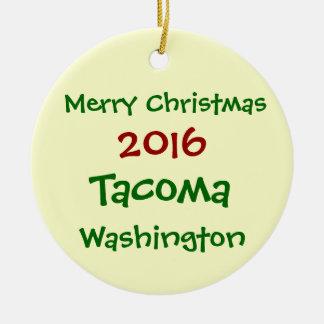 NEUE WEIHNACHTSverzierung 2016 TACOMAS WASHINGTON Keramik Ornament