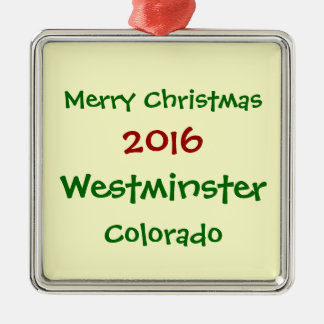 NEUE WEIHNACHTSverzierung 2016 WESTMINSTERS Silbernes Ornament