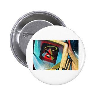 Neue Weltordnungs-Graffiti Runder Button 5,1 Cm