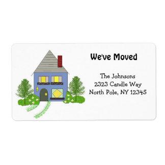 Neue Zuhause-Adresse Versandetikett