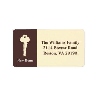 Neue Zuhause-Adressen-Etiketten - Brown Adressetiketten