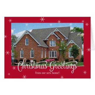 Neue Zuhause-Foto-Weihnachtskarte Karte