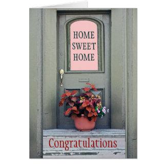 Neue Zuhause-Glückwunsch-Gruß-Karte Grußkarte