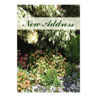 Neuer Adressen-Blumengarten Personalisierte Einladungen