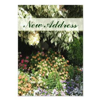 Neuer Adressen-Blumengarten 12,7 X 17,8 Cm Einladungskarte