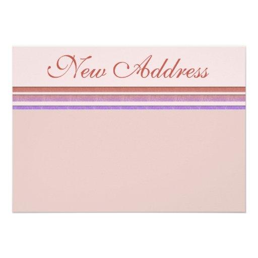 Neuer Adressen-Pastell Personalisierte Ankündigung