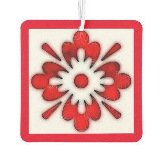 Neuer Auto-Lufterfrischer des roten Blumenmusters Autolufterfrischer