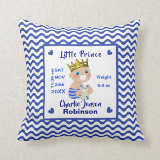 Neuer Baby-Jungen-kleiner Prinz Personalized Kissen