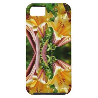 Neuer Blick des GLÜCKES goldene Blumen-Show-Grüße Hülle Fürs iPhone 5