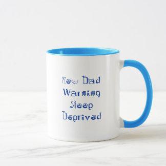 Neuer DadWarning Schlaf beraubt Tasse