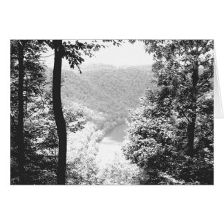Neuer Fluss, West Virginia Schwarzweiss Karte