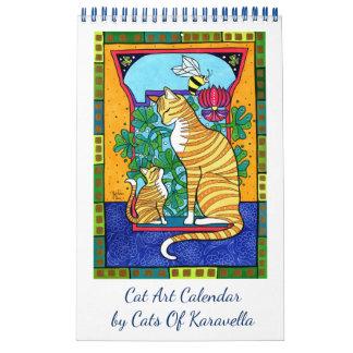 Neuer Katzen-Kunst-Kalender durch Katzen von Wandkalender
