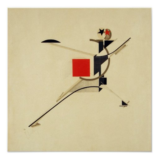 Neuer Mann durch EL Lissitzky abstrakt Poster