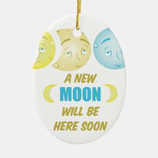 Neuer Mond Keramik Ornament