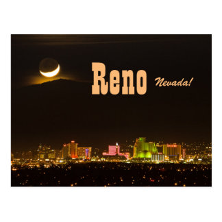 Neuer Mond-Postkarte Reno Nevada Postkarte