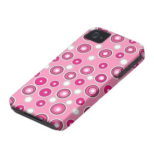 Neuer niedlicher BlackBerry-Kasten-rosa u. weißes iPhone 4 Cover
