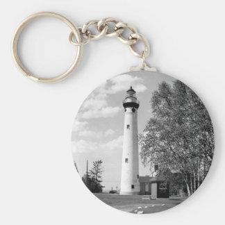 Neuer Presque Insel-Leuchtturm Schlüsselanhänger