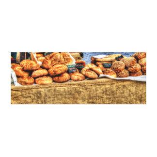 "Neuer selbst gemachtes Brot-Stall 52"" x 20"", 1,5"" Leinwanddruck"