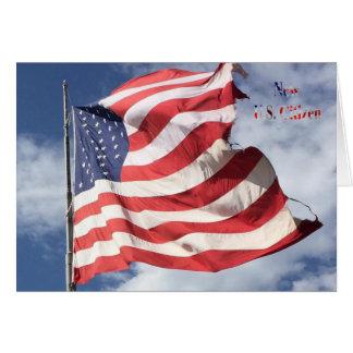 Neuer US-Bürger: Flaggen-Fliegen Karte