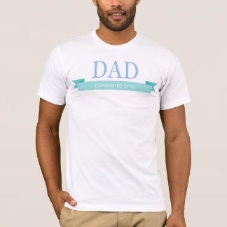 Neuer Vater, der Vatertag personifizieren addieren T-Shirt