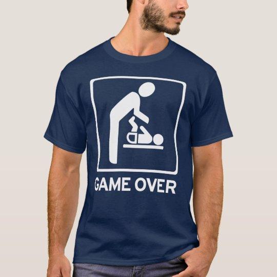 Neuer Vati zum zu sein = Spiel über Windelaufgabe T-Shirt