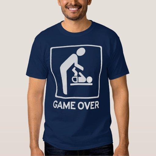 Neuer Vati zum zu sein = Spiel über Windelaufgabe T Shirts