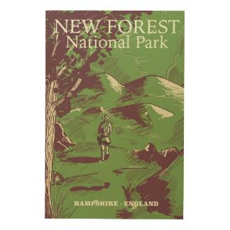 Neuer Wald, Hampshire, England Holzleinwand