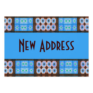 Neues Adressen-Türkis-Brown-Fliesen-Muster