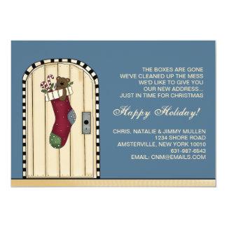 Neues Adressen-Weihnachten - bewegliche Mitteilung 12,7 X 17,8 Cm Einladungskarte