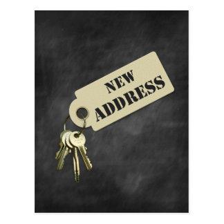 Neues Adressen-Zuhause oder Geschäfts-Postkarte Postkarte