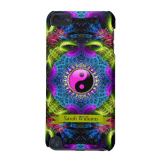 Neues Alter YinYang psychedelische NeonFraktale iPod Touch 5G Hülle