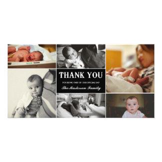 Neues Baby danken Ihnen Foto-Karte Bilder Karten