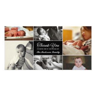 Neues Baby danken Ihnen Foto-Karte Bildkarte