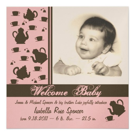 Neues Baby-Mitteilungs-Rosa