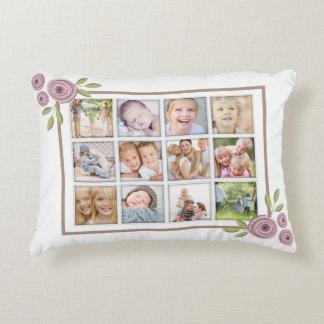 Neues Blumenbild der familien-Foto-Collagen-zwölf Deko Kissen