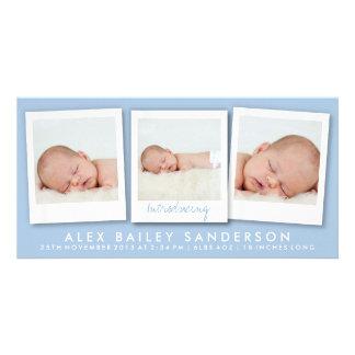 Neues der Baby-Foto-Karten-  Blau Bildkarten