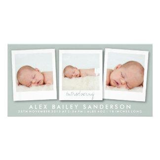 Neues der Baby-Foto-Karten-| Grün Karte