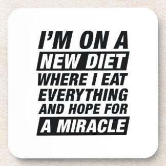 Neues Diät-Wunder Getränkeuntersetzer